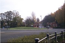 TQ7669 : Roundabout at the entrance to the Universities at Medway by David Anstiss