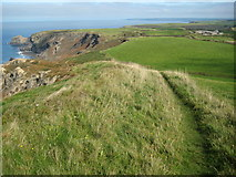 SX1394 : View north from High Cliff by Philip Halling