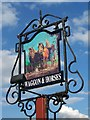 ST5040 : Sign for the Waggon and Horses by Maigheach-gheal