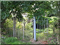 NY6165 : St. Cuthbert's Church, Upper Denton - entrance gates by Mike Quinn