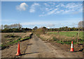TG2600 : Access road to West Green Farm by Evelyn Simak