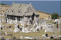 SH7683 : St Tudno's graveyard, Great Orme by Mike Pennington