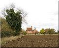 TM2599 : Wolferd Green Farm viewed from Grub Street by Evelyn Simak