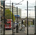 SJ8497 : London Road from a Tram by Gerald England