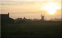TG0444 : Cley windmill at sunset by roger geach
