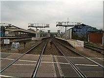 SX9193 : Exeter St Davids Station from level Crossing by Tim Marshall
