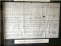 ST5707 : Copy of marriage certificate, Melbury Osmond by Maigheach-gheal