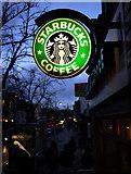 J3372 : 'Starbucks' sign, Botanic Avenue by Rossographer