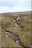 HU5136 : The Mill burn which comes from the Sand Vatn loch by john bateson