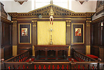 TQ2880 : Grosvenor Chapel, South Audley Street, Mayfair - High altar by John Salmon
