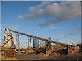 TQ3879 : Hanson Aggregates (3) - conveyor by Stephen Craven