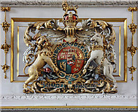 TQ2880 : Grosvenor Chapel, South Audley Street, Mayfair - Royal Arms by John Salmon