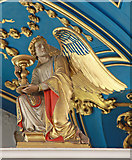 TQ2880 : Grosvenor Chapel, South Audley Street, Mayfair - Angel on screen by John Salmon