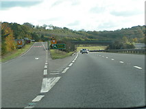 SX8578 : Junction for Chudleigh on the A38 west-bound by Rob Purvis