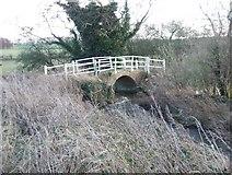 TF9235 : A ford and footbridge over the river Stiffkey by John Wernham