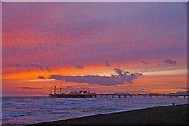 TQ3103 : Brighton Beach and Pier by Christine Matthews
