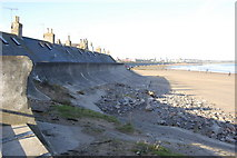 NJ9505 : Coastal defence wall, Footdee by Bill Harrison