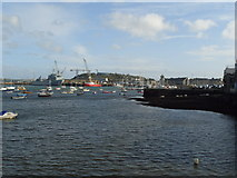 SW8132 : Looking towards Falmouth Docks & Maritime Museum by Amanda King