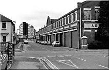 SU1584 : Garrard Factory, Newcastle Street & Plymouth Street by P L Chadwick