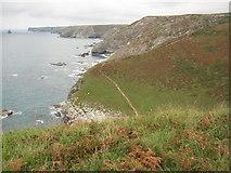 SX0382 : Coast path near Tregragon by Philip Halling