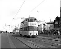 SD3035 : Trams on Blackpool promenade by Dr Neil Clifton