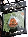 TQ2976 : Pub Sign in Stewarts Road by tristan forward