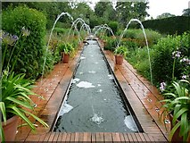 SE3238 : Beautiful garden in Roundhay Park by Christine Johnstone