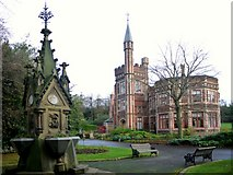 NZ2560 : Charlton Memorial Fountain, Saltwell Park by Andrew Curtis