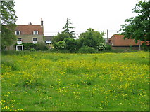 TR3256 : View across meadow to houses on Felderland Lane by Nick Smith