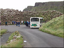 C9444 : Bus by the Giant's Causeway by David Hawgood