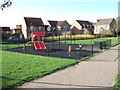 SP6949 : Children's play area on The Shires, Towcester by Oliver Hunter
