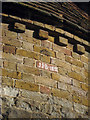 TQ7751 : Dated Brick of Lyewood Farm Oast by Oast House Archive