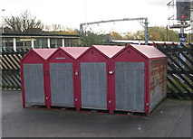 SE1537 : Cycle Lockers - Platform 5 - Shipley Station by Betty Longbottom