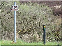 H0616 : Cyclist and walker signs at Stralongford by Oliver Dixon