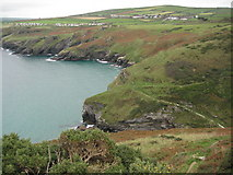 SX0689 : View over Bossiney Haven by Philip Halling