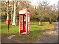 SY8682 : East Lulworth: postbox № BH20 72 and phone box by Chris Downer