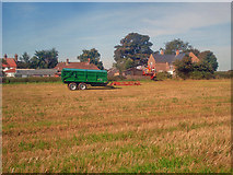 SK4865 : Farm implements at Rowthorne by Trevor Rickard