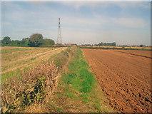 SK4865 : Public footpath near Rowthorne by Trevor Rickard