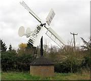 TM2384 : Hollow post windpump in Starston by Evelyn Simak