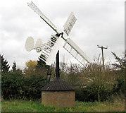 TM2384 : Hollow post windpump in Starston by Evelyn Simak
