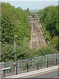 TQ3187 : Gospel Oak to Barking Line from Parkland Walk by Oxyman