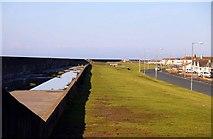 SD3145 : The sea wall at Larkholme by Steve Daniels