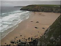 SW8467 : Mawgan Porth Beach by Philip Halling