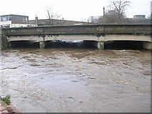 SE1537 : River Aire & Baildon Bridge after recent heavy rain! - off Otley Road by Betty Longbottom