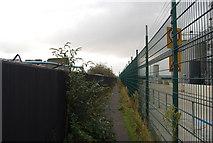 TQ5977 : Riverside path near Procter & Gamble's Soap making Works, Thurrock by N Chadwick