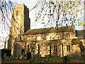 TM1986 : St Mary Magdalene's church in low November sunshine by Evelyn Simak