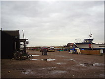 TM5075 : Southwold Harbour looking East by Ashley Dace