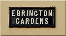 J3774 : Ebrington Gardens, Belfast (2) by Albert Bridge