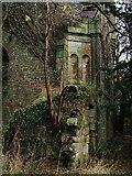 NS3578 : Kilmahew Castle - SW corner by Lairich Rig