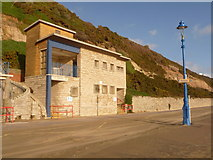 SZ0990 : Bournemouth: toilets below East Cliff Lift by Chris Downer
